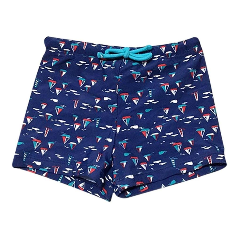 Rucan Boys\' Stripe Swim Trunks, Toddler Kid Boys Streak Stretch Swimsuit Swimwear Shorts