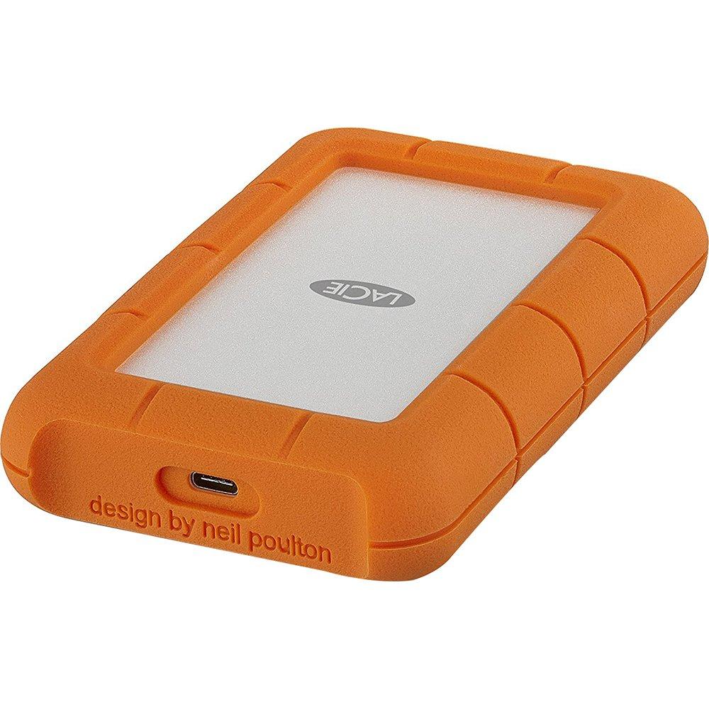 LaCie Rugged USB-C and USB 3.0 4TB Portable Hard Drive STFR4000400
