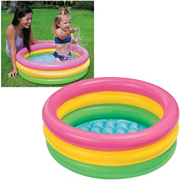 Intex 58924NP - Piscina 3 aros bebé Sunset, 86 x 25cm, 68L: Amazon.es: Jardín