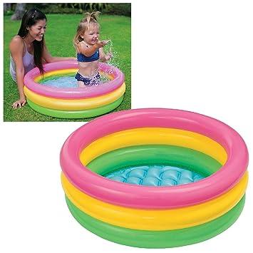 Intex Inflatable Kids Bath Tub, 3 Ft (Multicolor)