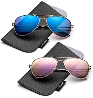 d0aaf9aa2c5f Kids Juniors Aviator Polarized Sunglasses HQ Durable Stainless Steel Frame