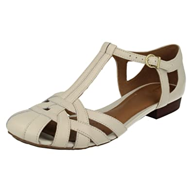 6a196cacd Clarks Womens Casual Clarks Henderson Luck Leather Shoes In Off White  Standard Fit Size 9