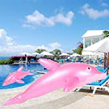 UNAKIM-1pc 50cm Inflatable Dolphin Fish Swimming Pool Beach Party Kids Toy Prop Gifts