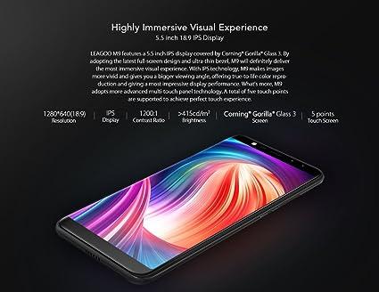 Moviles Libres Android Leagoo M9,Smartphone Libre 5.5 Pulgadas Dual Sim 3G,16GB telefono movil con Huella Dactilar,8MP Camera,2850mAh Batería, MT6750T Octa-Core, WiFi Bluetooth,Oro: Amazon.es: Electrónica