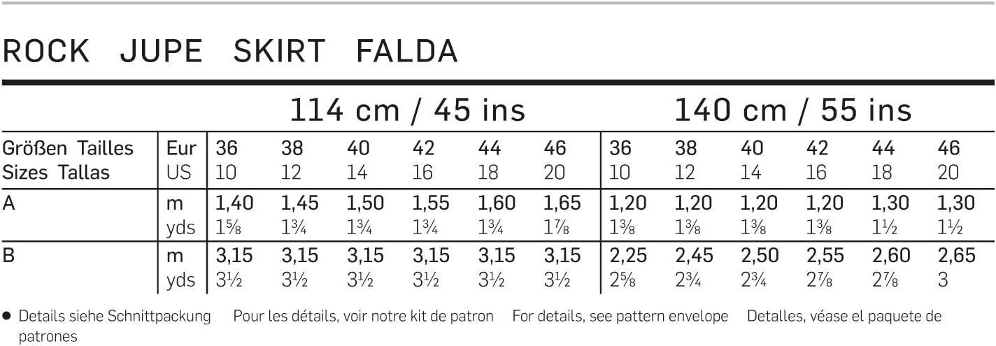Patrón Burda 6803 Falda: Amazon.es: Hogar