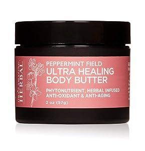 Peppermint Body Butter, Hand Repair Cream, Natural Body Butter, Vegan Body Butter, Ultra Healing Body Butter, Organic Shea Butter, Travel Size, Ora's Amazing