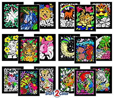 Super Pack of 18 Fuzzy Velvet 8x10 Inch Posters (Artistic Edition)