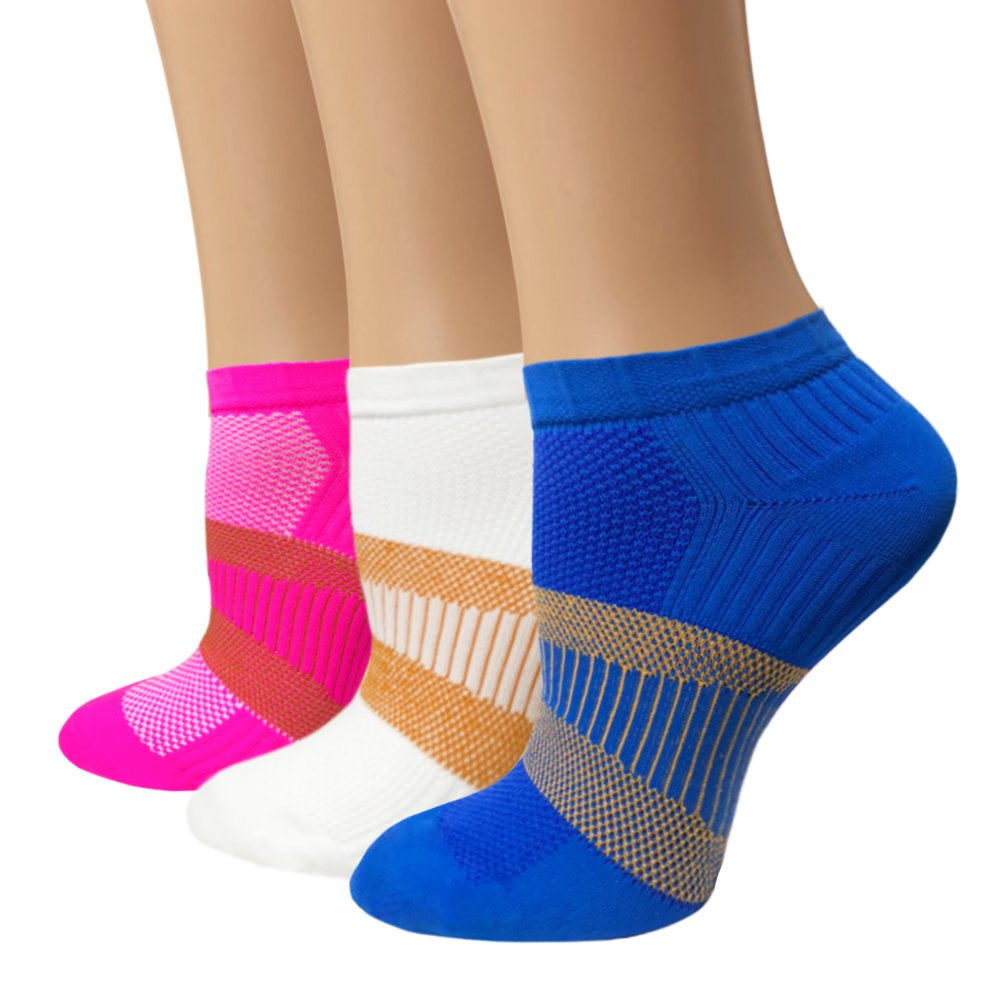 Copper Compression Socks For Women & Men - Athletic Ankle Socks Best For Running, Sport, Pregnancy and Travel