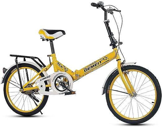Bicicleta Plegable De 20 Pulgadas, Niños Grandes, Niños, Adultos ...