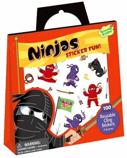 Peaceable Kingdom Ninjas Reusable Sticker Tote: Amazon.es ...