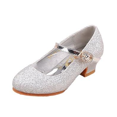 9d0d36d60efa YYF Enfant Fille Chaussures Fille de Ballerines Enfant Chaussures de  Princesse Plat Comfortable