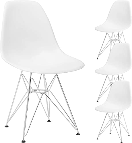 YJCfurniture Dining Chairs Set of 4 Mid Century Modern Kitchen Shell Chairs