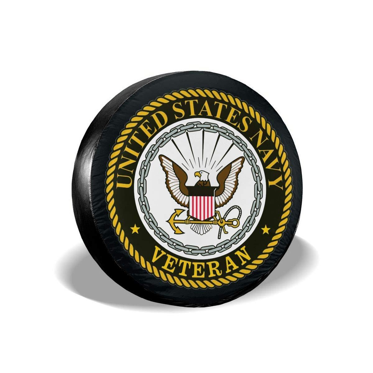 TCOlivia US Navy Veteran6 Spare Tire Cover/£/¬ Universal Wheel Tire Cover for Jeep Trailer RV SUV Truck Camper Travel Trailer Accessories