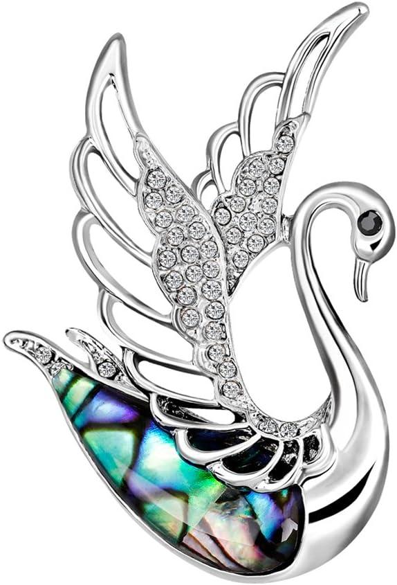 Hosaire/® 1pc Broche Exquise Et Mode en Forme De Cygne avec Coquille /Él/égante Broche pour /Écharpe Beau Accessoires De Chandail De Manteau Broche Exquis Corsage
