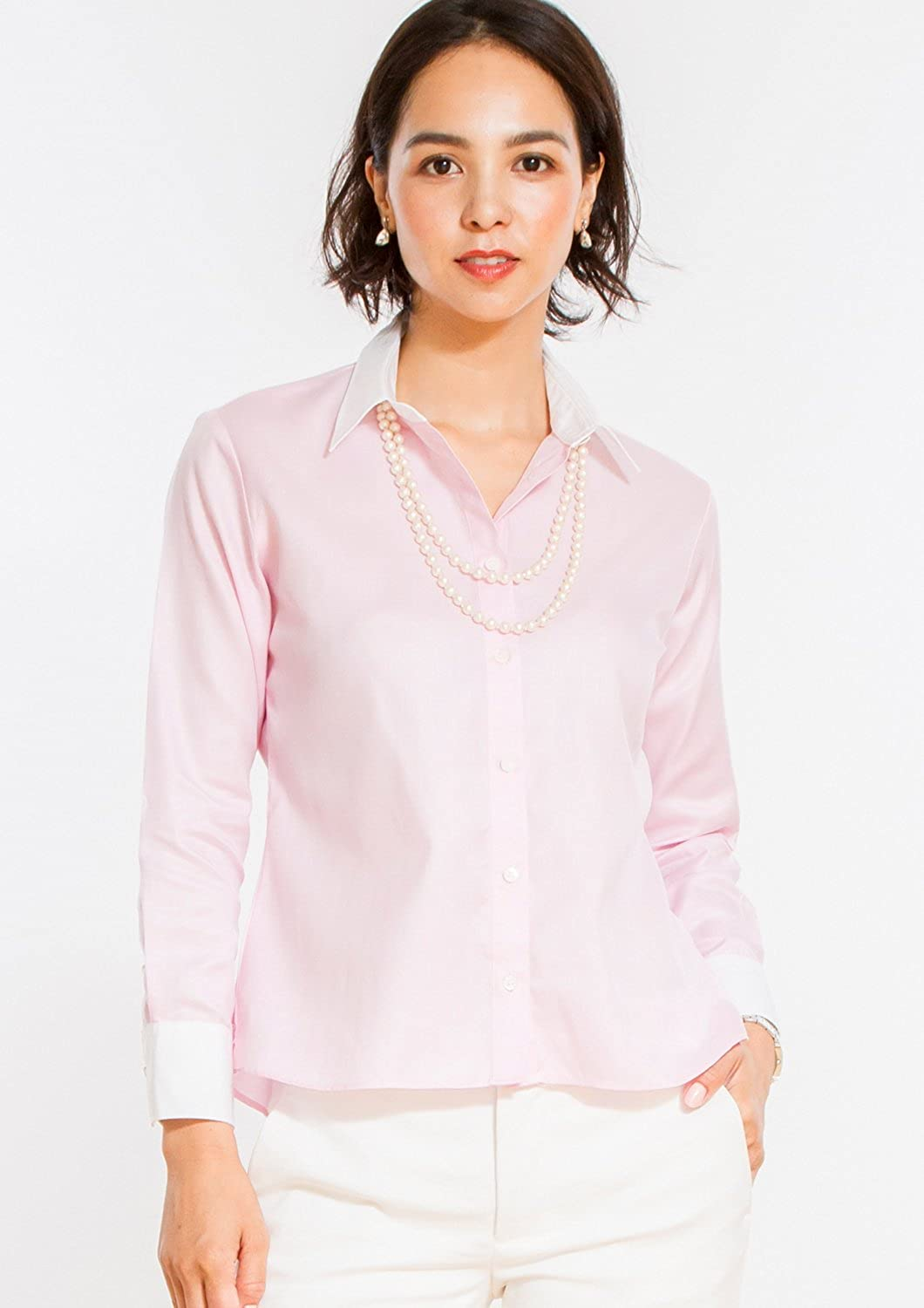 Leonis Womens Non Iron Bracelet Length Sleeve Untucked Shirt At