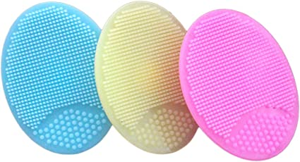 Image ofMinni Cepillo de Limpieza Facial de Silicona Suave Lavado de Poros Profundos Exfoliante Removedor de Cepillo de Espinillas Skin SPA Oval Scrub Pad Tool