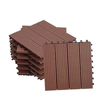 Mctech Fliesen Wpc Kunststoff 30x30cm Terrassenfliesen