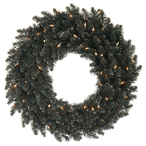 Vickerman K161849 Wreath with 480 Pvc Tips & 150 Dura Lit Lights on Wire, 48