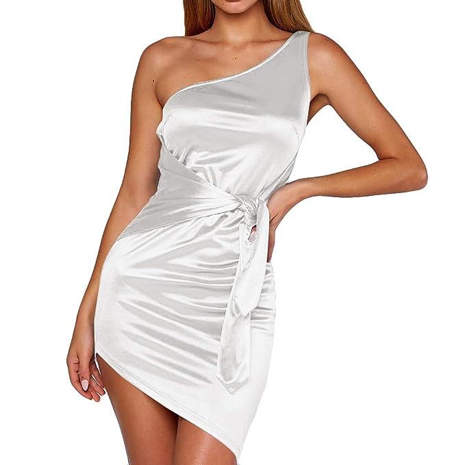 93bd672ba01a Abito A Tubino Vestito Donna Corti Abiti Donna Sexy Eleganti Estate Senza  Manica Vestitini Donna Scollo