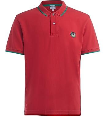 4ee5951aa9 Kenzo Men's Red Polo Shirt with Green Edges: Amazon.co.uk: Clothing