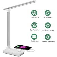 SaponinTree Lámpara Escritorio LED, Lámparas de Mesa USB