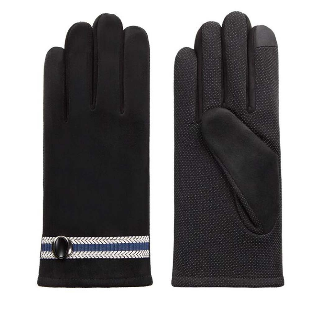 DRAGON SONIC Men's Winter Warm Touchscreen Gloves Business Gloves Black by DRAGON SONIC (Image #1)