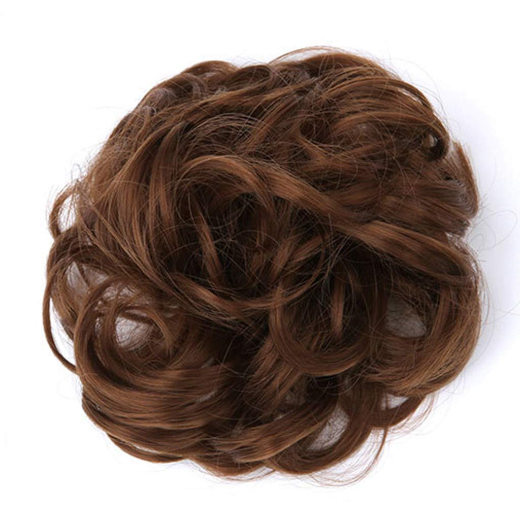 ZSBAYU Hair Bun Extensions Wavy Curly Messy Donut Chignons Hair Piece Wig Hairpiece, Ring Style Bun Scrunchies Made of Hair