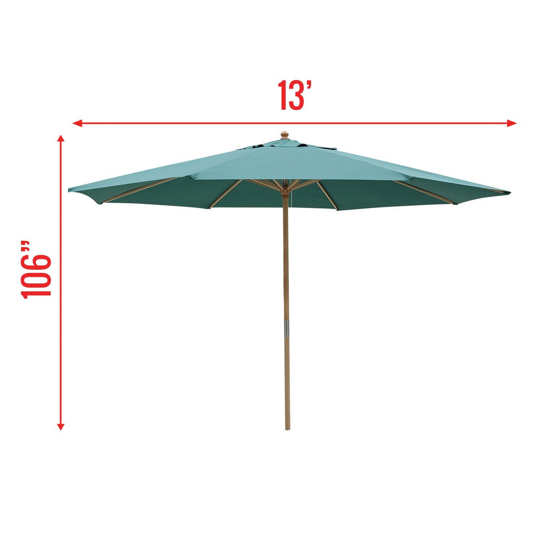 13 Ft. Wooden Outdoor Patio Umbrella (13 FT Green)  Garden u0026 Outdoor  sc 1 st  Amazon.com & Amazon.com : KOVAL INC. 13 Ft. Wooden Outdoor Patio Umbrella (13 FT ...