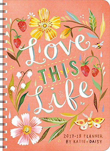 Katie Daisy 2017 - 2018 On-the-Go Weekly Planner: 17-Month Calendar with Pocket