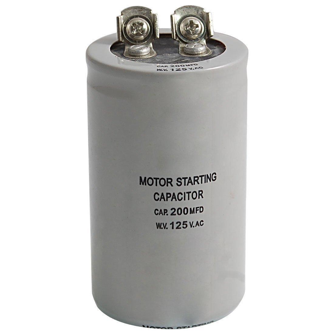 TOOGOO(R) AC 125V 200uF 200MFD 2 Terminales Condensador de arranque del motor 010692