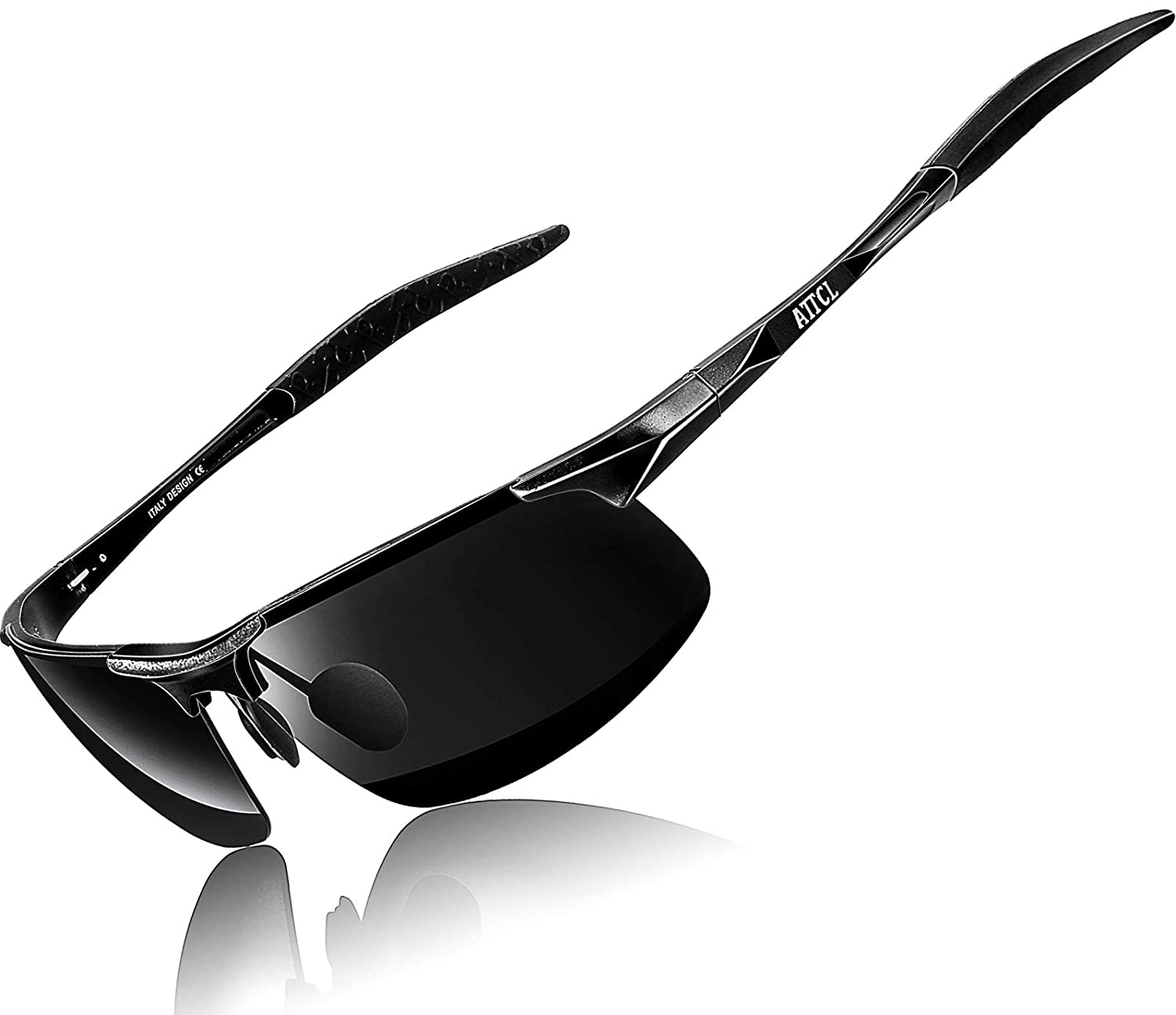 a1085b3a15 ATTCL Men s Driving Polarized Sunglasses Unbreakable Metal Frame 8177  black  Amazon.ca  Clothing   Accessories