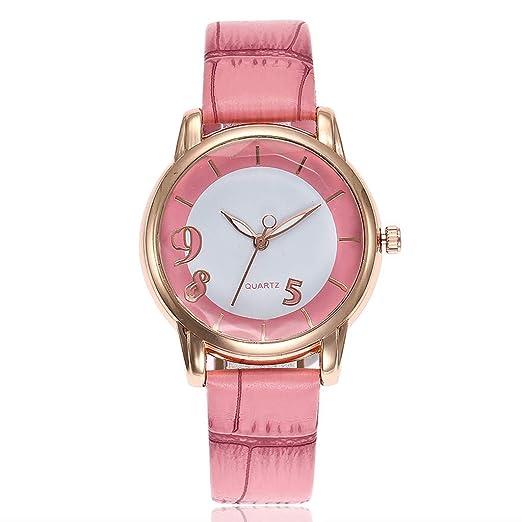 POJIETT Relojes Mujer Marca Reloj Pulsera de Cuarzo Analógico Mujer Chica Dama Rosa Wrist Watch Women Joyas Regalos: Amazon.es: Relojes