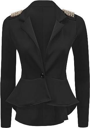 Womens Spike Studded Jacket Ladies