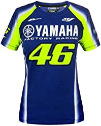 Valentino Rossi VR46 Moto GP M1 Yamaha Racing Team Womens T-Shirt Official New