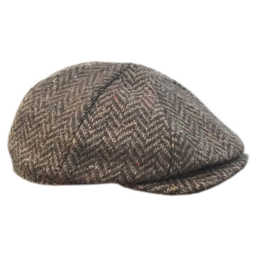 c1bc11ef4b3af Amazon.com  Donegal Ireland - Hanna Eight Piece Tweed Cap - Brown ...