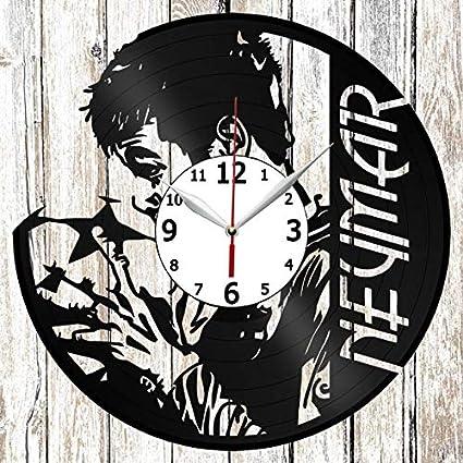Neymar Vinel Record Wall Clock Home Art Decor Original Gift Unique Design Handmade Vinyl Clock Black