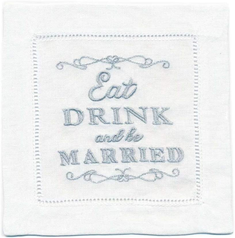 20pc 5.5 x 5.5 Gibson TW4-22027 Blue Lets Do A Little Day Drinking Paper Cocktail Napkins C.R x 5.5