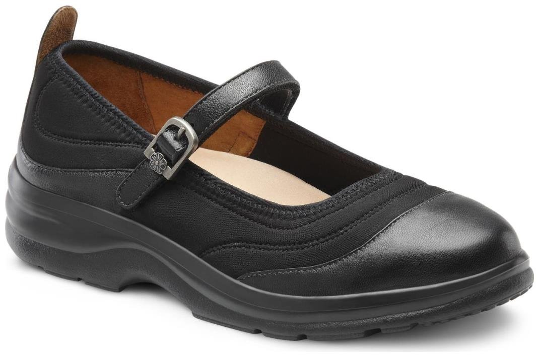 Dr. Comfort Women's Flute Lycra Stretchable Diabetic Mary Jane Shoes by Dr. Comfort