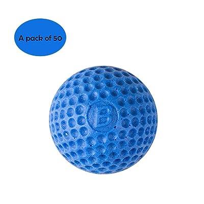 50pcs Ronda - Kit de Recarga para NERF, Nerf Zeus Apollo de Bola para niños Pistola de Juguete, Azul: Deportes y aire libre