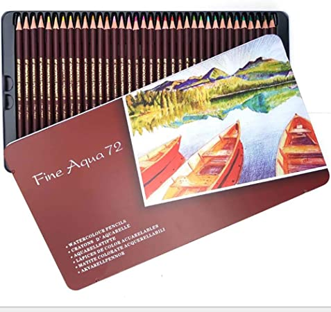 YXFYXF LáPices De Colores Solubles En Agua En Caja De Metal, Set Profesional De 72 Colores para Principiantes Y Artistas Profesionales, Ideal para Dibujar, Dibujar Y Colorear: Amazon.es: Hogar