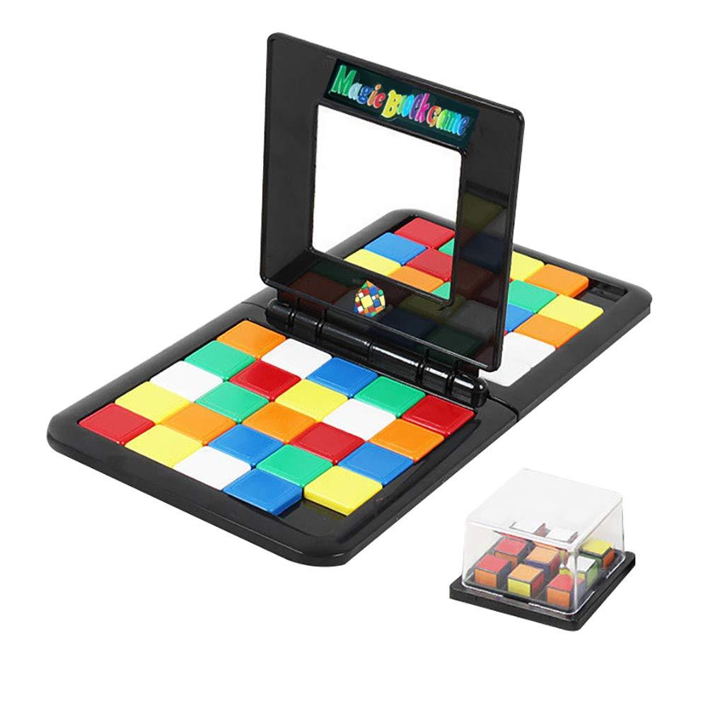 Aland-Colorful 子供用 教育パズルブロック テーブルゲーム インタラクティブギフト 21011444 B07KW932CF ランダムカラー