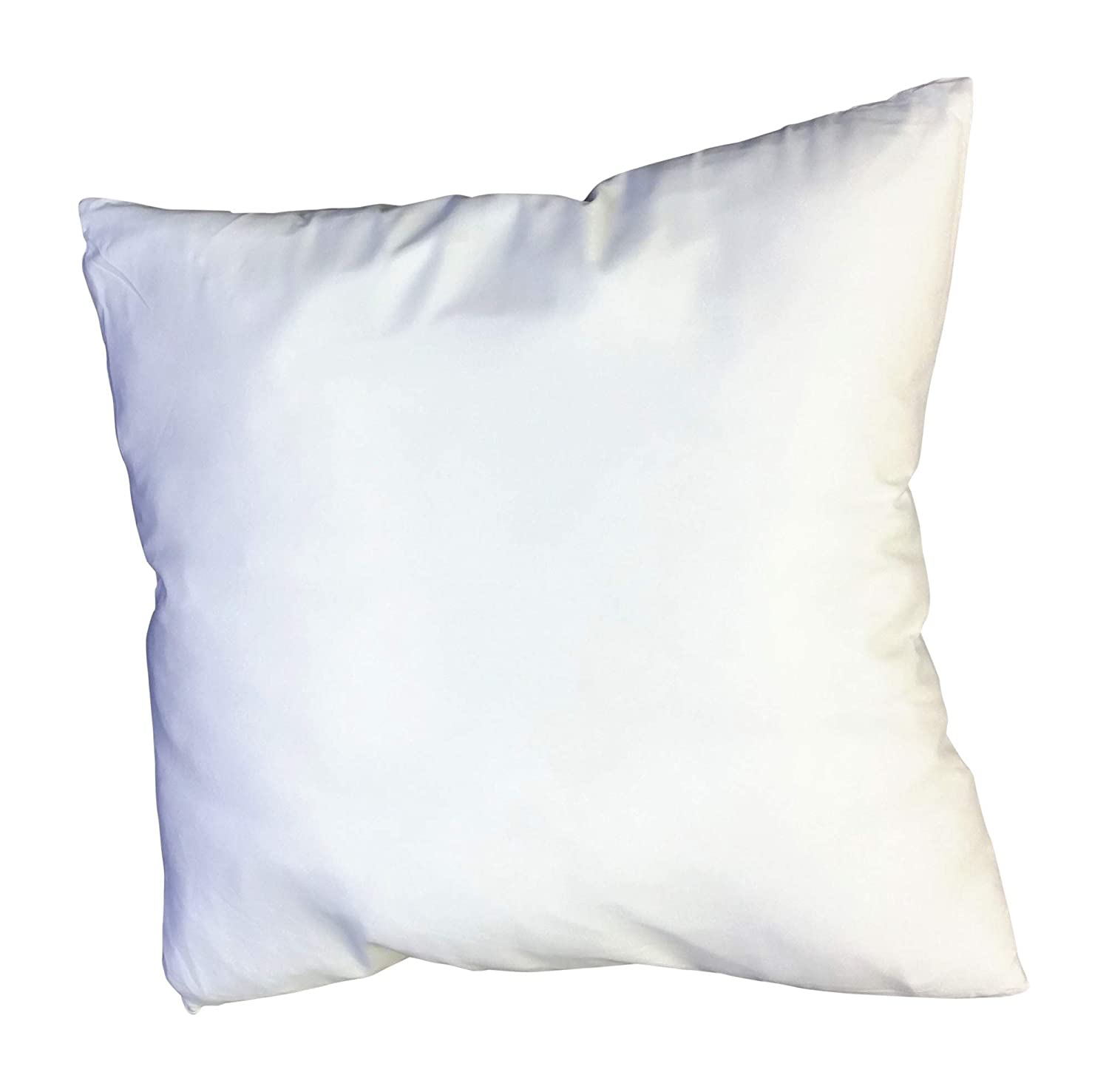 Two - 400 Thread Count - 26 x 26 Square-Down Alternative - Euro Pillow w/ Removable Zippered Protector by Web Linens Inc 26x26