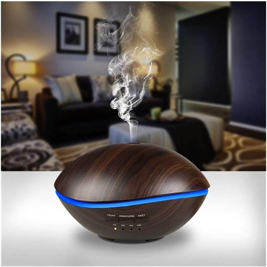ManYHM 500ML LED Lamp Air Ultrasonic Humidifier for Home