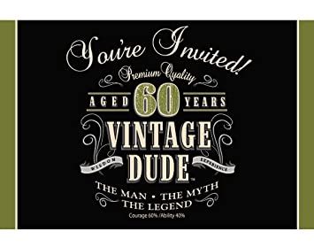 Creative Converting Vintage Dude 8 Count 60th Birthday Party