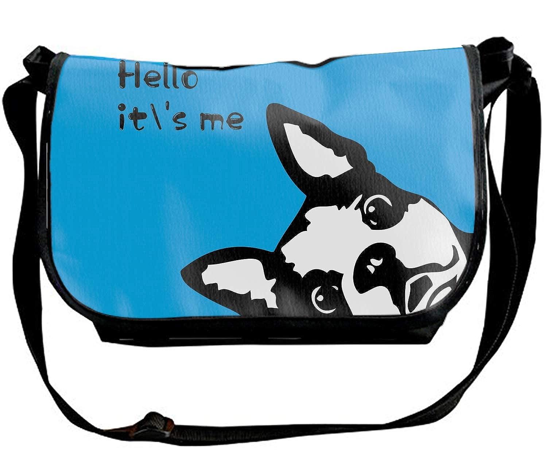 Custom Pet Dog And Footprints Single Shoulder Slant Sling Bag Crossbody Bag