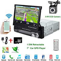 """Car Stereo in-Dash Single DIN 7"""" HD Touch Digital Screen Head Unit Support Bluetooth GPS Mirror Link FM/USB/SD/MP5/Hands…"""