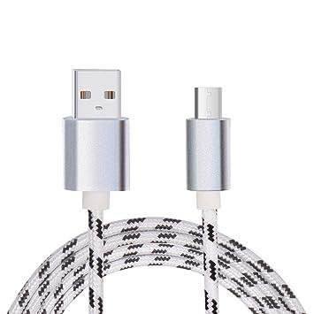 Lunasol Home 1M USB Tipo C Cable para Blackview BV7000 Pro / BV7000 / BV9700 Mòvil Resistente, Nylon Trenzado Carga Ràpida Cable