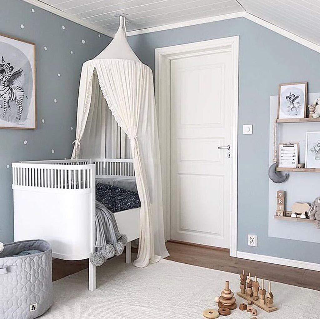Baby Baldachin Betthimmel Kinder Babys Bett Baumwolle H/ängende Moskiton f/ür Schlafzimmer Ankleidezimmer Spiel Lesen Zeit