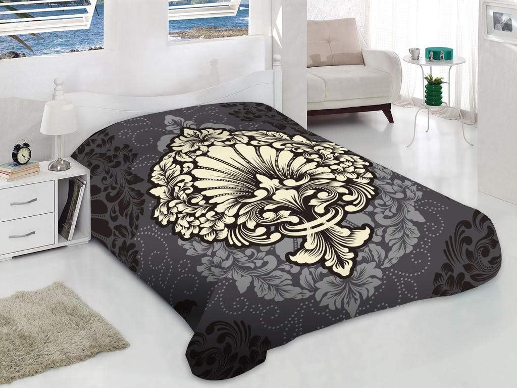 Korean Mink Blanket Queen-King Size 14 Lbs Heavy Thick Warm Plush Soft Burgundy