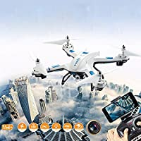 S5 RC Helicopter Warrior Drone Quadcopter 2.4GHz 4CH 6 Axis 2MP WIFI HD Camera By Hongxin(White)